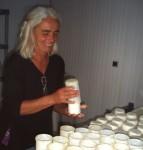 Démoulage du fromage chez Anita